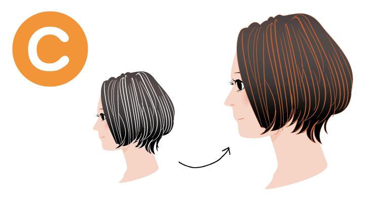 白髪がオレンジ系茶褐色に染まり黒髪は変わらないかやや明るく