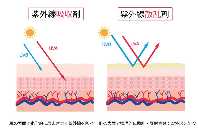紫外線吸収剤と散乱剤の違い